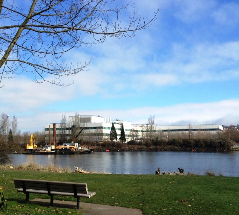 "You can see dredging equipment used in the earliest work on superfund cleanup of ""hotspots"" at Seattle's Duwamish Waterway Park, in Southpark."