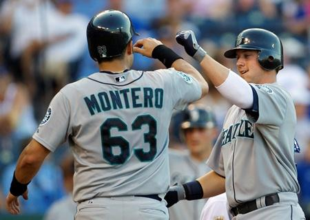Jesus Montero and Justin Smoak - two of the three players that Art Thiel says need to have a good season for the team to be strong.