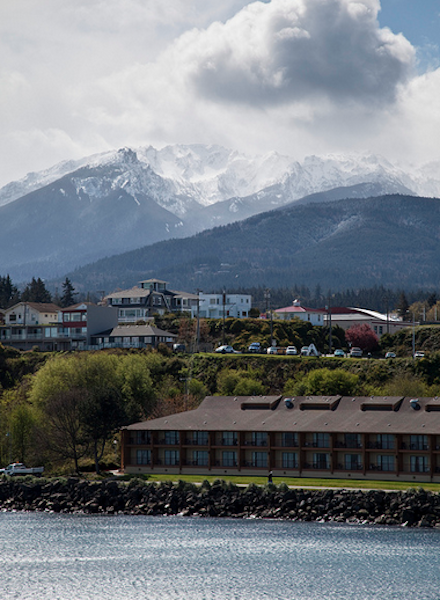 Thanks to rain shadows, Port Angeles only sees an average of 25 inches of rain each year.