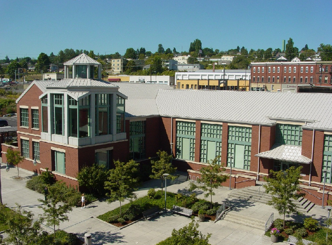 The University of Washington Tacoma campus is seen in this photo.