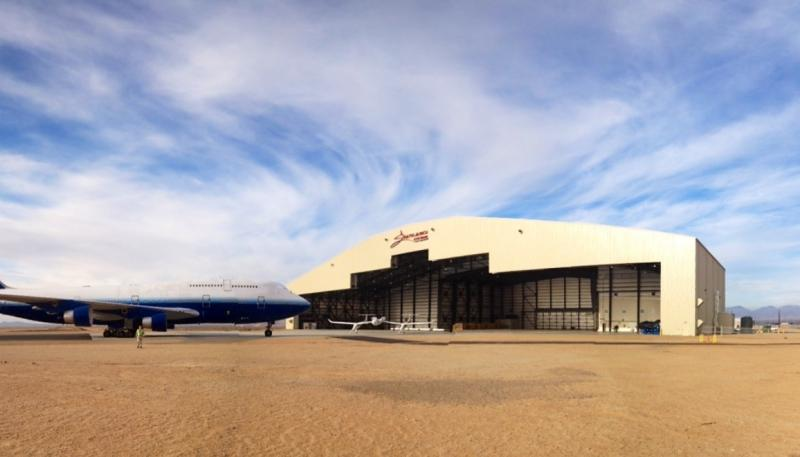 Stratolaunch Systems' new assembly hangar officially opened March 27, 2013 at Mojave Air and Space Port.