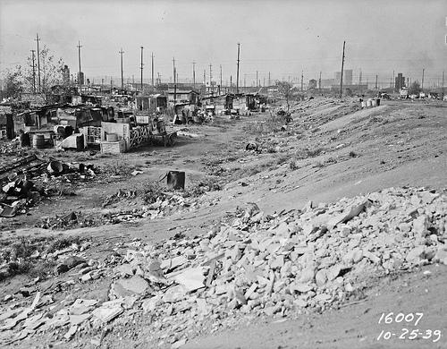 Shantytown and garbage dump on 6th Avenue South, 1939.