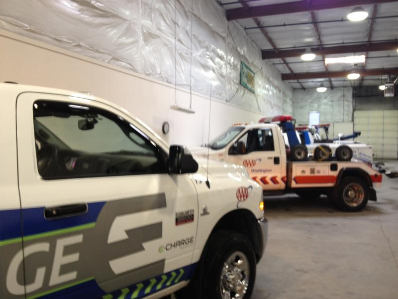 The EV Charging truck also provides all  other AAA emergency roadside  services, such as jump starts and unlocking.
