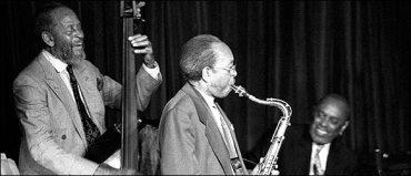 Percy Heath (1923-2005) with his brothers Jimmy and Albert