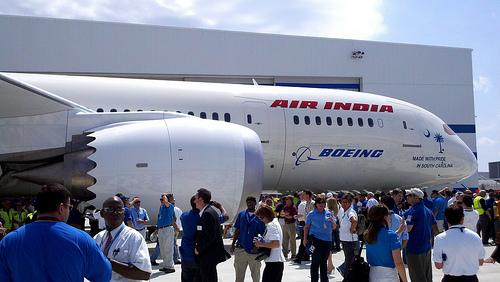 The first North Charleston-made 787 Dreamliner