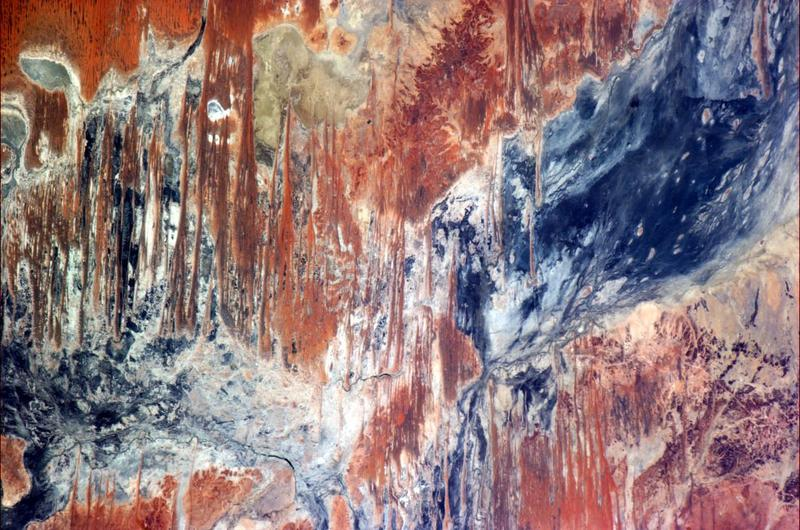 """Jackson Pollock would have been even further inspired by seeing the Outback from orbit."""