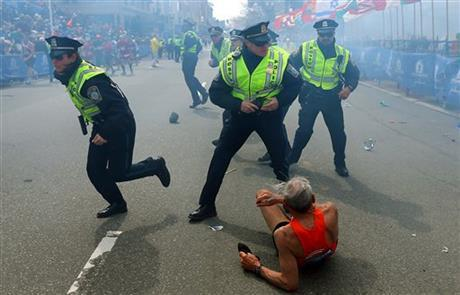 78-year-old Bill Iffrig of Lake Stevens was running in his third Boston Marathon Monday when he was knocked down by one of two bomb blasts. He got up and walked across the finish line.