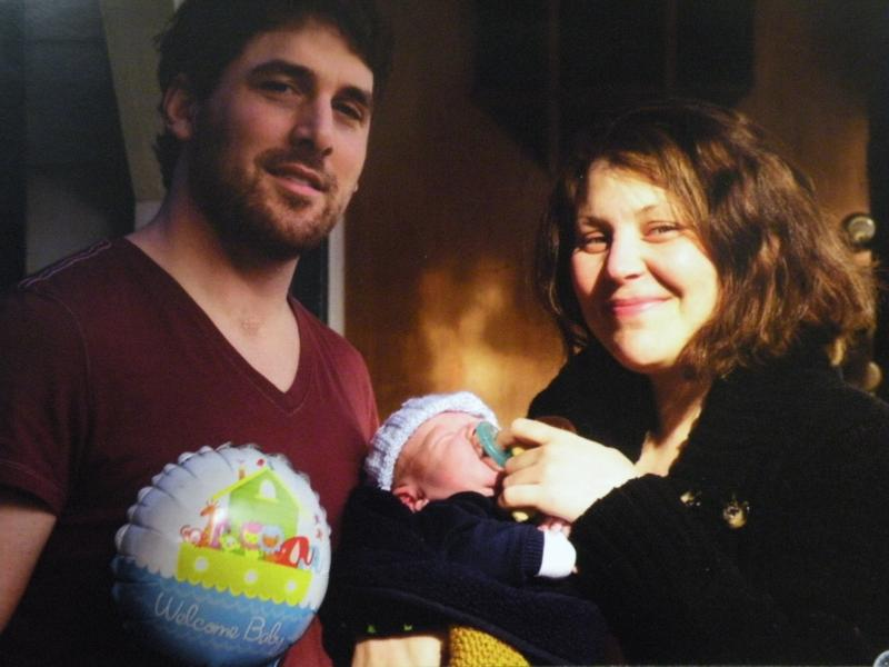 Dan and Karina Schulte are seen with their son, Elias, on March 24, 2013—one day before the accident.