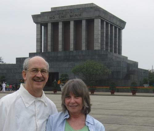 Greg and Carolyn Heberlein at Ho Chi Minh's mausoleum in Hanoi