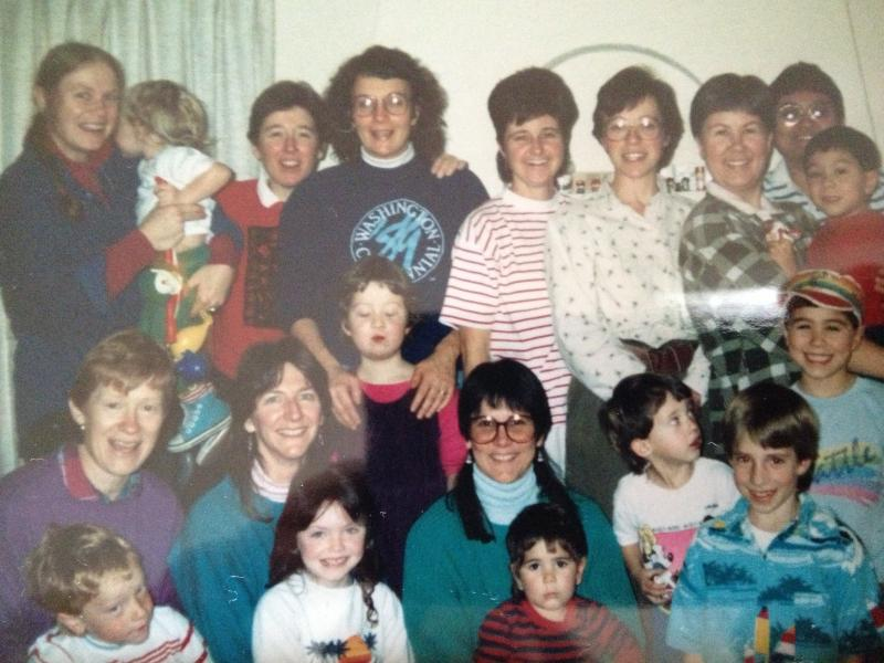 The moms' group in the late 1980s