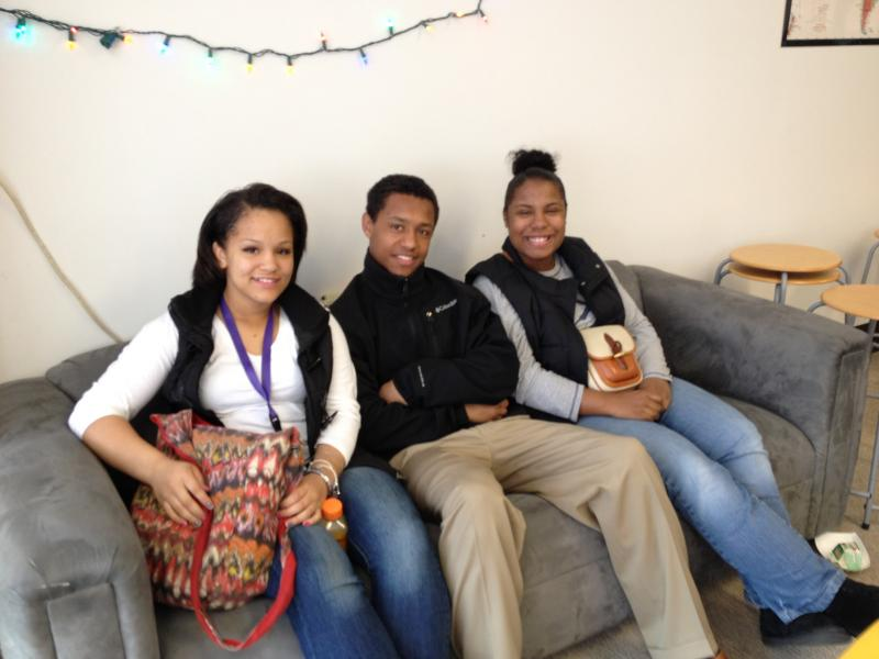 "A few of Rainier Beach's ""IB ambassadors"": Mariah Scott, Christian Capers and Emani Alexander-Royster."
