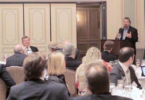 Mark Anderson addressing the SNS Annual Predictions Dinner at the Waldorf Astoria in New York. 12/6/2012