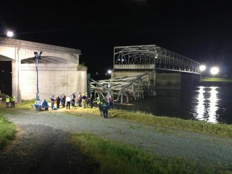 The Interstate 5 bridge over Washington's Skagit River collapsed Thursday night.