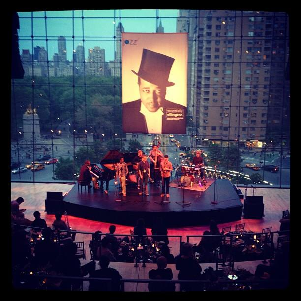 This image shows a jam session held in the Allen Room of the Lincoln Center on Friday, May 10, 2013.