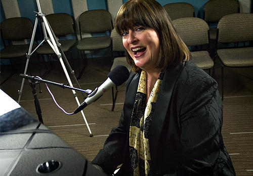 Ann Hampton Callaway performs live in the KPLU Seattle studios on May 10, 2013.