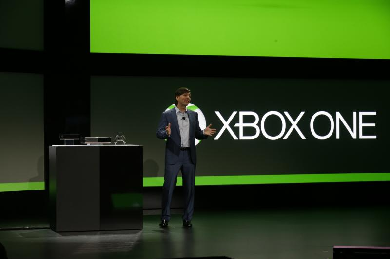 Microsoft Corp.'s Don Mattrick unveils the next-generation Xbox entertainment and gaming console system, Tuesday, May 21, 2013, at an event in Redmond, Wash