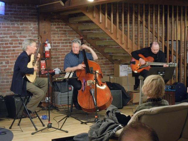 John Stowell, Bruce Phares and Dave Peterson at Ballard Jazz Walk