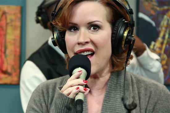 Actress/singer Molly Ringwald performing live in the KPLU Seattle studios on April 15, 2013.