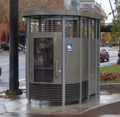 The so-called Portland Loo is seen in this photo.