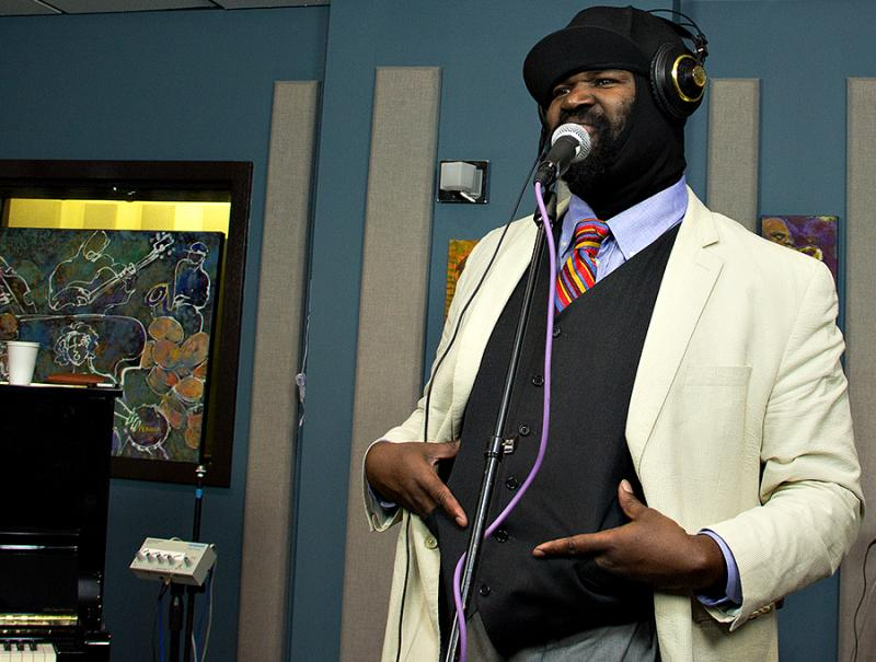 Gregory Porter performs live in the KPLU Seattle studios on June 21, 2013.