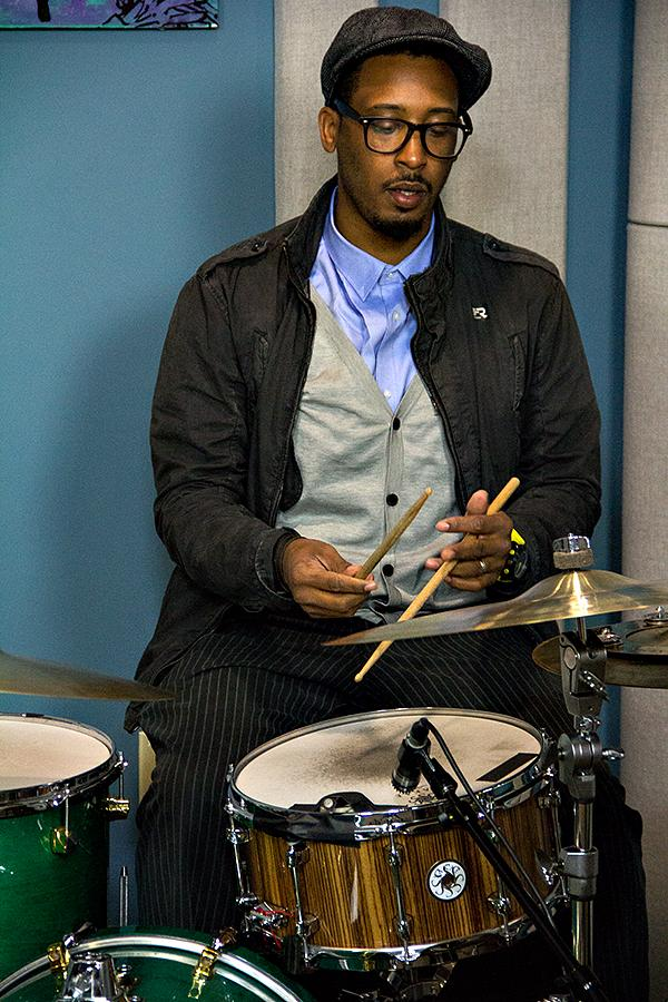 Emanuel Harrold performs with Gregory Porter in the KPLU Seattle studios on June 21, 2013.