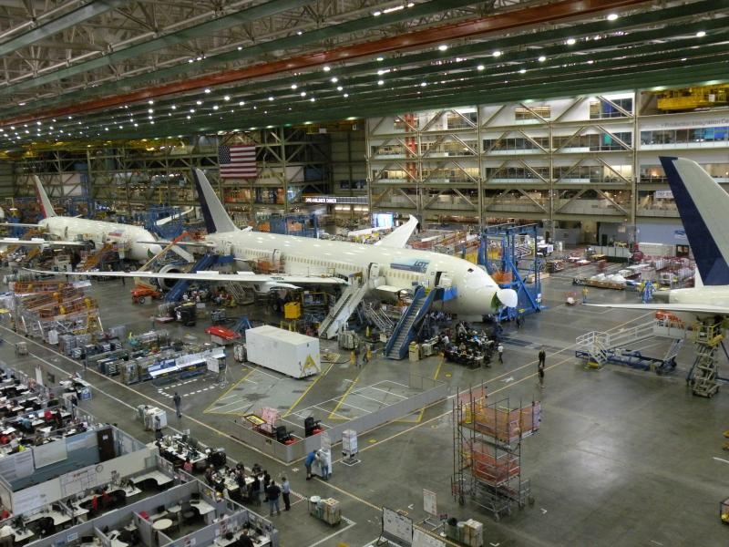 787 production in Everett