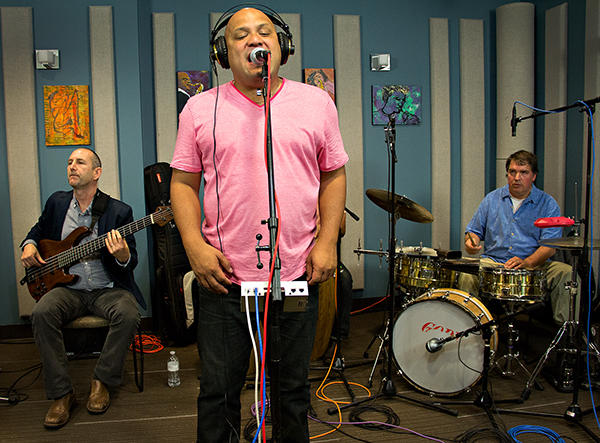 Carlos Cascante y su Tumbao performing live in the KPLU Seattle studios on May 30, 2013.