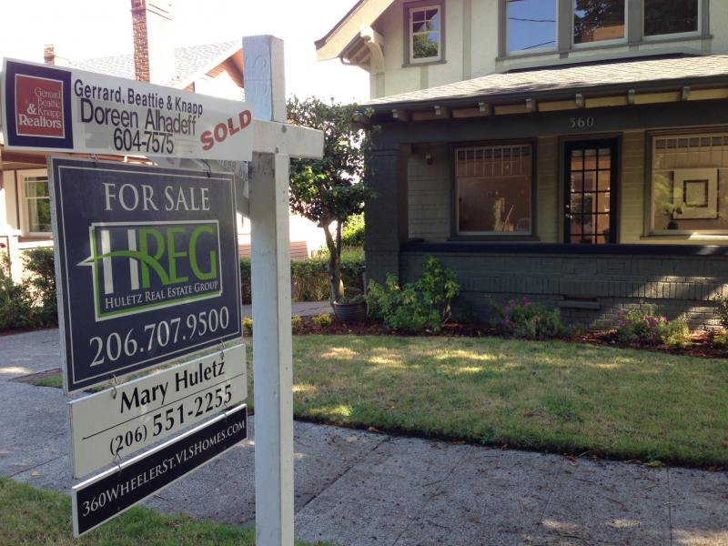 """Sold"" signs are going up quickly on Seattle homes."