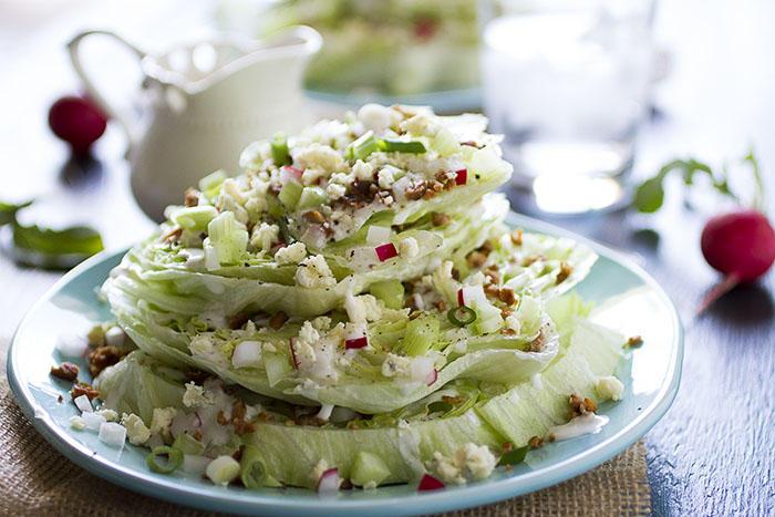 Deb Perelman's horizontal iceberg lettuce/blue cheese salad