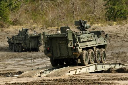 FILE - The Fourth Stryker Brigade Combat Team is seen training at JBLM.