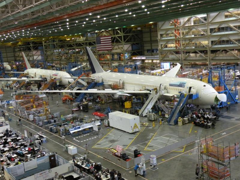 787 Dreamliner production in Everett