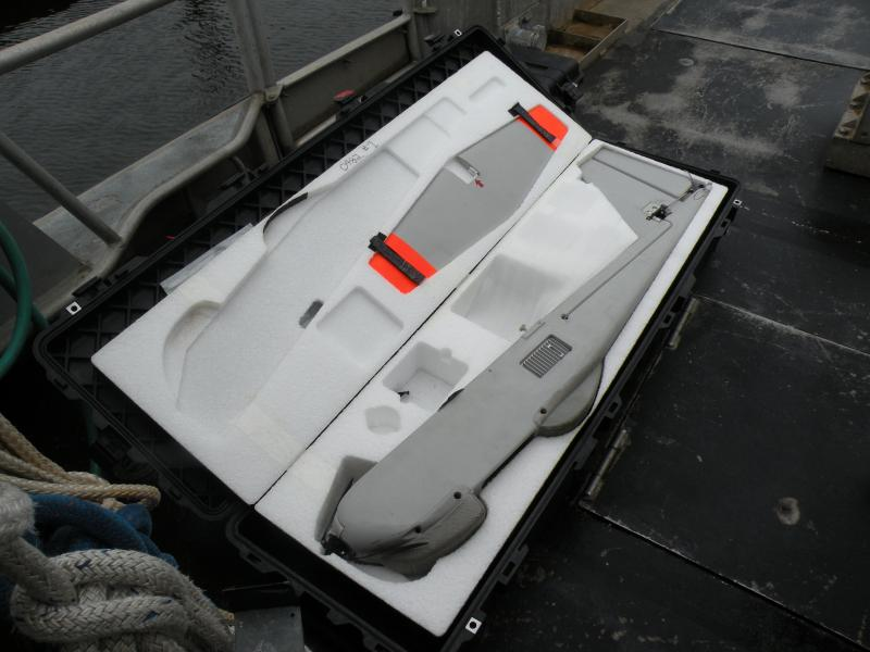 The Puma AE is stowed in carry bags that could be hiked in to all environments, a helpful feature for NOAA's scientists.