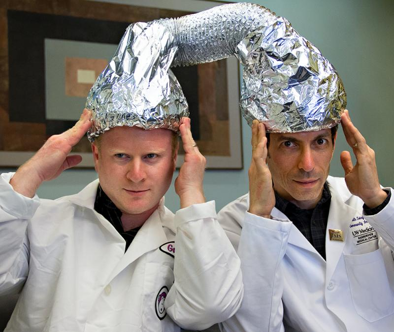 This photo shows Gabriel Spitzer, left, and Keith Seinfeld performing an in-house procedure.