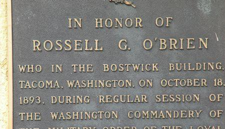 Plaque in Tacoma's downtown historic district