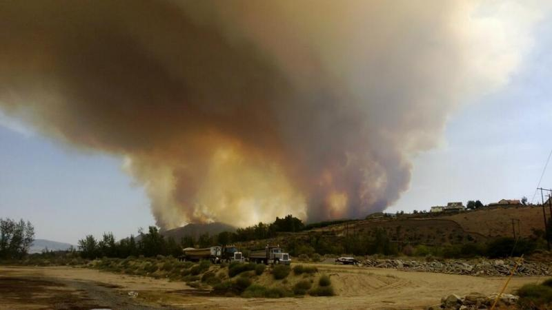 Milepost 10 Fire, south of Wenatchee.