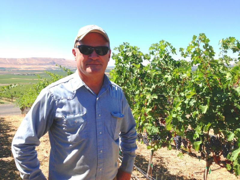 Vineyard manager Dick Boushey.