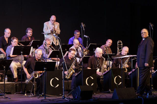 Thomas Marriott solos with Centrum All Star Big Band directed by Clarence Acox