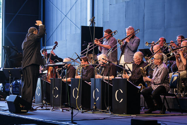 Dan Marcus & Jiggs Whigham solo with Clarence Acox conducting Centrum All Star Big Band