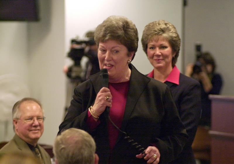 Sen. Jean Berkey, center.