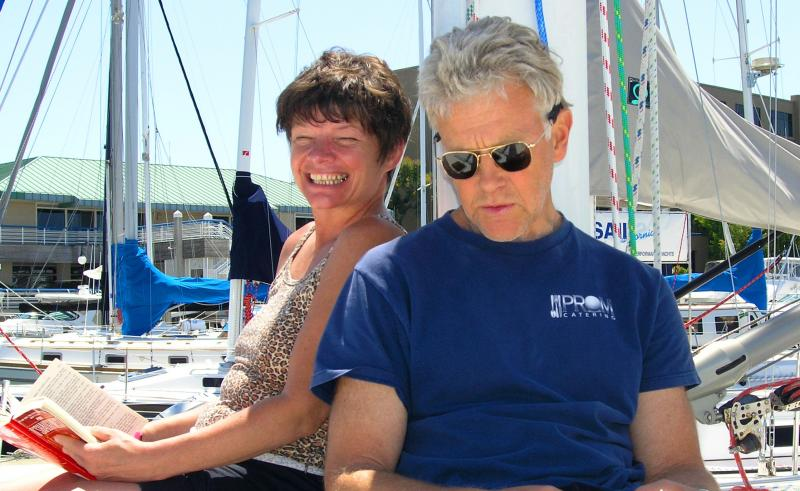 In this June 11, 2005 photo provided by Joe Grande, Phyllis Macay and Bob Riggle are seen on a yacht in Bodega Bay, Calif. Macay and Riggle, both of Seattle, are reportedly on the yacht Quest, hijacked by Somali pirates Friday, Feb. 18, 2011.