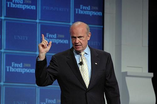 Former GOP presidential hopeful turned reverse mortgage pitchman, Fred Thompson.