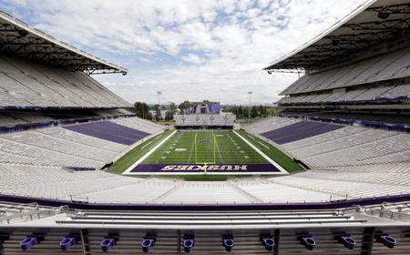 Bleachers and seats surround the newly renovated Husky Stadium looking east Wed., Aug. 28, 2013 in Seattle.