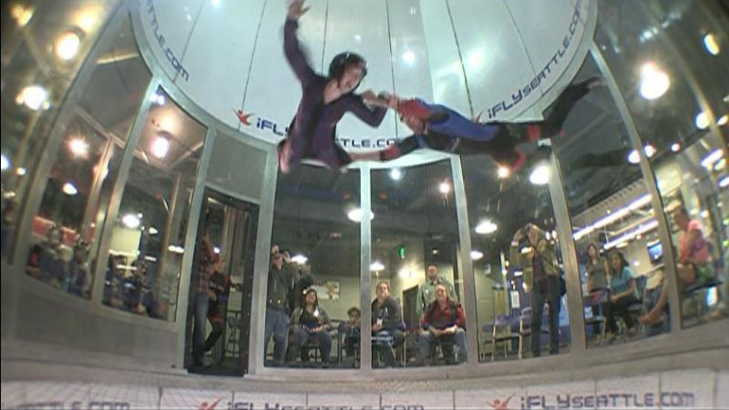 Mikayla Cheney says the flight in iFly's wind tunnel made her live in the moment.