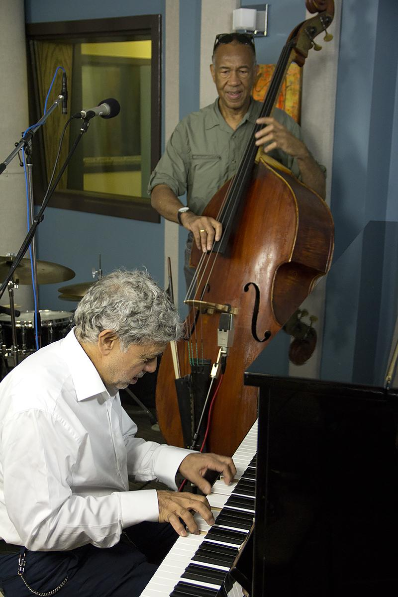 Monty Alexander and John Clayton performing live in the KPLU Seattle studios on August 9, 2013.