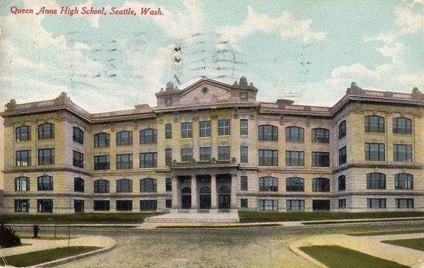 Seattle's Queen Anne High School , now a condo complex, is on the National Register of Historic Places and is an official City of Seattle landmark.