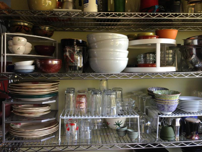 Nancy's kitchen dish cabinet