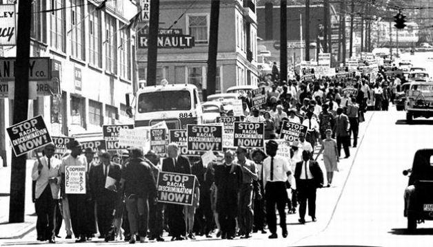 A June 1963 march in Seattle against racial discrimination