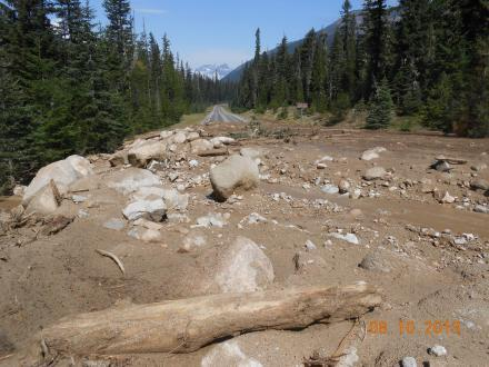 This is one of eight mudslides that shut down the North Cascades Highway.