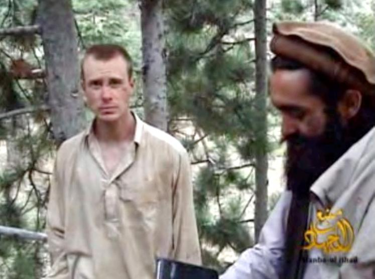 Sgt. Bowe Bergdahl and Sangeen Zadran appear together in a 2010 Taliban video.