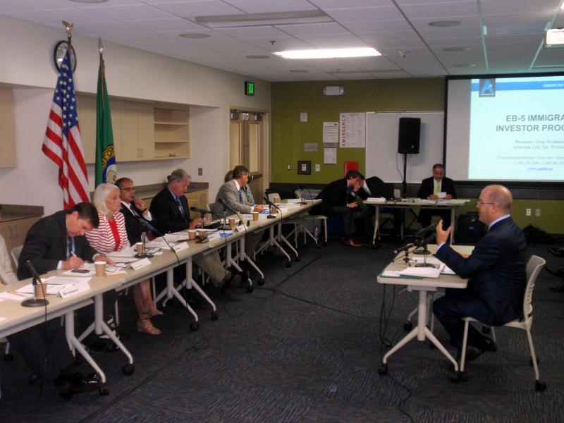 American Life, Inc. President Greg Steinhauer testifies to the Washington State Legislative Committee on Economic Development & International Relations.